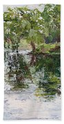 Bevier Park In The Rain Bath Towel