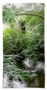 Phallic In The Grass Bath Towel