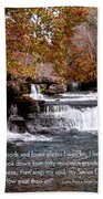 Bible Verse And Inspirational Greeting Card Autumn Fine Art Photography Prints And Posters. Bath Towel