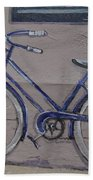 Bicycle Leaning On A Wall Bath Towel