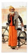 Bicycle Man Bath Towel