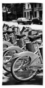 Bicycles - Velib Station - Paris Bath Towel