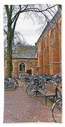 Bicycling To Church Bath Towel
