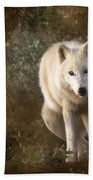 Big Bad Wolf Sprinkling The Grass Bath Towel