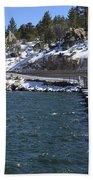 Big Bear Dam - California Bath Towel