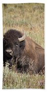 Big Buff - Bison - Buffalo - Yellowstone National Park - Wyoming Bath Towel