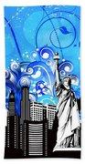 Big City Blues 4 Liberty Hand Towel