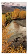 Big Lost River In Autumn Hand Towel