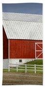 Big Red Barn In West Michigan Bath Towel