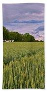 Big Sky Montana Wheat Field  Bath Towel