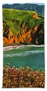 Big Sur California Coastline Bath Towel