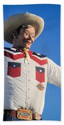 Big Tex - State Fair Of Texas - No. 2 By D. Perry Lawrence Bath Towel