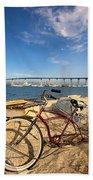 Bike And A Brdige Bath Towel
