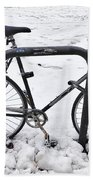 Bike In The Snow Bath Towel