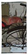 Bike Seat View Bath Towel