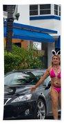 Bikini Bunny In Miami Bath Towel
