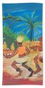 Bikutsi Dance 2 From Cameroon Bath Towel