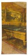Billiard Room At Menil-hubert Bath Towel