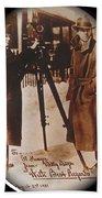 Billy Bitzer D.w. Griffith Pathe Camera Way Down East 1920-2013 Bath Towel