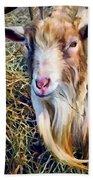 Billy Goat Closeup Bath Towel