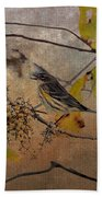 Bird And Berries Bath Towel