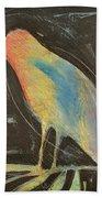 Bird In Gilded Frame Sans Frame Bath Towel