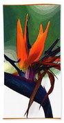 Bird Of Paradise Flower Fragrance Bath Towel