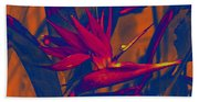 Bird Of Paradise Flower Bath Towel