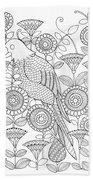 Bird Parrot Hand Towel by MGL Meiklejohn Graphics Licensing