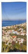 Birds Eye View Of Crete Greece Bath Towel