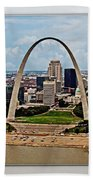 Bird's Eye View Of St.louis  Bath Towel