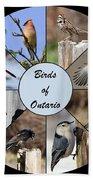 Birds Of Ontario Bath Towel