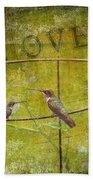 Birds On A Wire Bath Towel