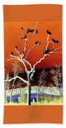 Birds On Tree Bath Towel