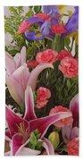 Birthday Bouquet Card Bath Towel