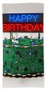 Birthday Cake For Geeks Bath Towel