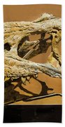 Bistahieversor Dinosaur Skull Fossil Bath Towel
