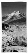 Bizarre Landscape Bolivia Black And White Bath Towel