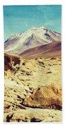 Bizarre Landscape Bolivia Old Postcard Bath Towel