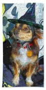 Black And Tan Chihuahua - Such A Good Little Witch Bath Towel