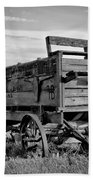 Black And White Covered Wagon Hand Towel