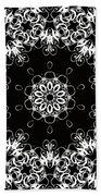 Black And White Medallion 1 Bath Towel