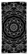 Black And White Medallion 2 Bath Towel