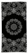 Black And White Medallion 6 Bath Towel