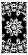 Black And White Medallion 8 Bath Towel