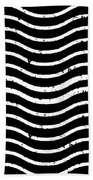 Black And White Postage Bath Towel