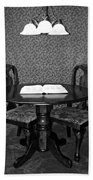 Black And White Sitting Table Bath Towel