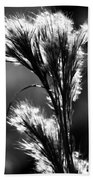 Black And White Vegetation In The Dunes Bath Towel