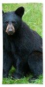 Black Bear Cub Bath Towel