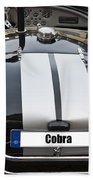 Black Cn Cobra Classic Car Bath Towel